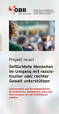 Cover Projekt re:act (OBR)